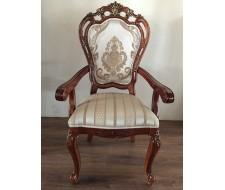 Кресло Глория 2725 Тёмный орех с золотом
