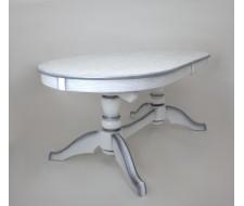 Стол Макси (цвет:Белый+сусальное серебро)
