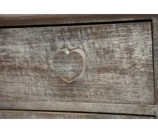 Комод с 5 ящиками Secret De Maison «Amour» (mod. HX16-004NS) (Натуральный антик)
