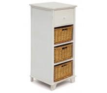 Тумба с 3 корзинами и ящиком Secret De Maison «Oiselet 4» (HX16-009 NS) (Белый)