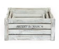 Набор ящиков Secret De Maison «Ciboire» (Сибуар) HX16-832 S/3 (Античный белый)