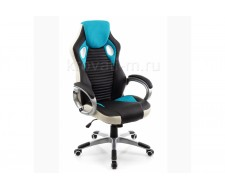 Кресло компьютерное  Roketas голубое