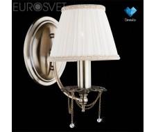 Настенные светильники Бра 3645/1 античная бронза/прозрачный хрусталь  Strotskis
