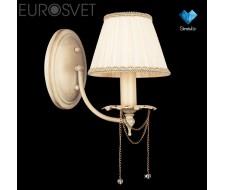 Настенные светильники Бра с хрусталем 3645/1 белый с золотом/прозрачный хрусталь  Strotskis