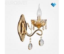 Настенные светильники Бра с хрусталем 10037/1 золото/тонированные хрусталь Strotskis