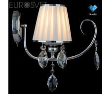 Настенные светильники Бра с хрусталем 10021/1 хром/прозрачный хрусталь Strotskis