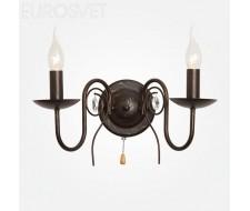 Настенные светильники Настенный светильник 60018/2 черный с золотом