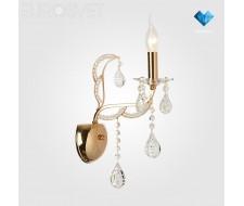 Настенные светильники Бра с хрусталем 10047/1 золото/прозрачный хрусталь Strotskis