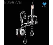 Настенные светильники Бра с хрусталем 10047/1 хром/прозрачный хрусталь Strotskis