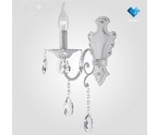 Настенные светильники Бра с хрусталем 10064/1 белый с серебром Strotskis