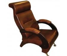 Кресло для отдыха, мод.9-Д (Antik Крокодил/Венге) Коричневый