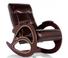 Кресло-качалка Комфорт (мод.4 /Or.Perlam-120/Венге) Темно-коричневый