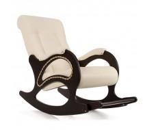 Кресло-качалка Комфорт (мод.44/Манго-002/Венге) БЕЛЫЙ без глянца