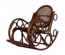 Кресло-качалка Novo с подушкой (Dark Br.-MATT) Орех