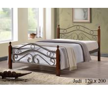 Кровать мод. 803 (Judi-120х200) Темный орех
