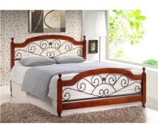 Кровать GUL-809 160х200 см Темный орех