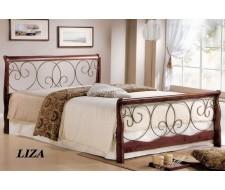 Кровать Лиза (160х200) Темный орех