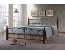 Кровать Паола (160х200) Темный орех