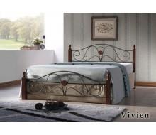 Кровать Вивьен (Vivien-160х200) Темный орех