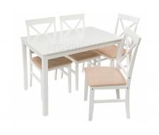 Обеденная группа Chili (стол и 4 стула) buttermilk / beige