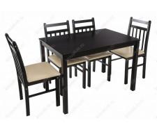 Обеденная группа Ludon (стол и 4 стула) cappuccino / cream