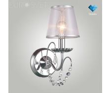 Настенные светильники Бра 10069/1 хром/прозрачный хрусталь Strotskis
