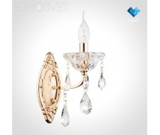 Настенные светильники Бра с хрусталем 10036/1 золото/прозрачный хрусталь Strotskis