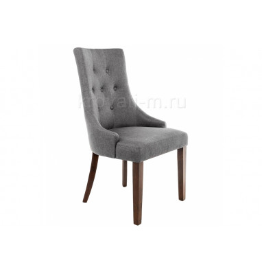 Стул деревянный Elegance dark walnut / fabric grey