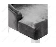 Стул деревянный Elegance white / fabric grey