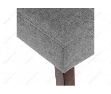 Стул деревянный Madina dark walnut / fabric grey