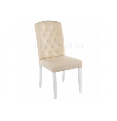Стул деревянный Menson white / fabric сream