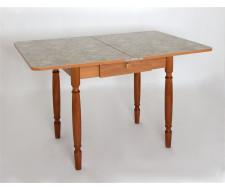 Стол обеденный ЛС-831 с ящиком (Латакия 6280/ ноги Орех точеные)
