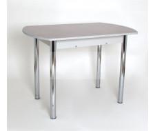 Стол обеденный ЕР-833 (1632 Песок/ ноги Хром/кромка+царги-серые)