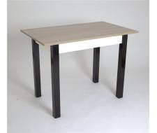 Стол 834 прямоугольный (Ясень шимо/16 мм/царги Белые/ ноги Черные прямые)