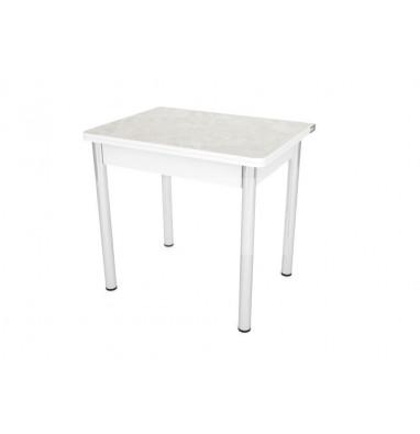 Стол обеденный ЛС-831 (ЛДСП/Спринт/ПВХ белый) ноги Хром