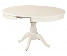 Стол раздвижной Фабрицио 1 (D 1000) Glass, Тон 9 (Эмаль белая)/Стекло-Белый