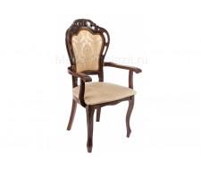 Кресло Bronte вишня / бежевый патина
