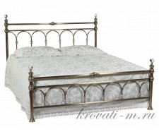Кровать 9801 L 140 х 200 см с кристаллами