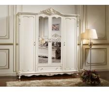"""Шкаф 4-дверный с зеркалами """"Глория"""""""