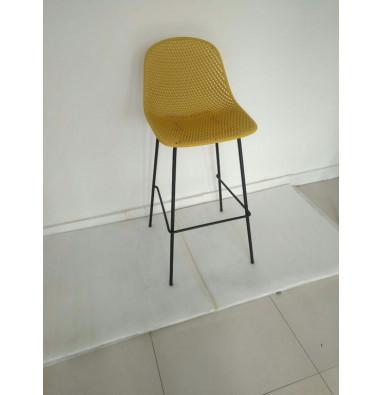 Барный стул MK-6704-BB Жёлтый/Черный