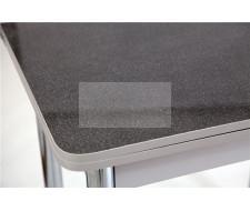 Стол обеденный ЛС-831 (Песок 1639/царги серый/ ноги Хром)