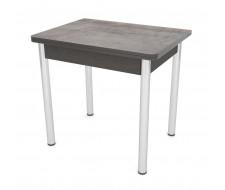Стол обеденный ЛС-831 (Трансильвания 2062/ ноги Хром/ЛДСП+кромка Венге)