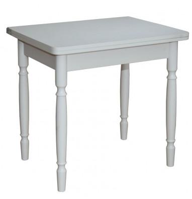 Стол обеденный ЛС-831 (1011 Бэкин/матовый/ ноги точеные Белые)