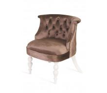 Кресло Бархат (эмаль белая / 15 - коричневый)