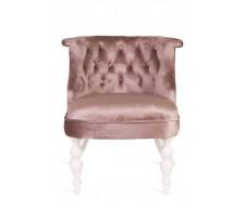 Кресло Бархат (эмаль белая / 24 - розовый)