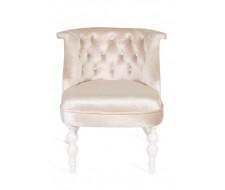 Кресло Бархат (эмаль белая / 30 - бежевый)