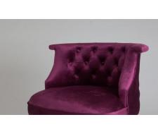 Кресло Бархат (темный тон / 26 - темно-розовый)