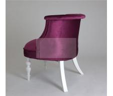 Кресло Бархат (эмаль белая / 26 - темно-розовый)