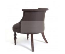 Кресло Бархат (темный тон / кожзам 1 шоколад)