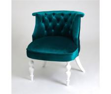 Кресло Бархат (эмаль белая / 23 - изумрудный)